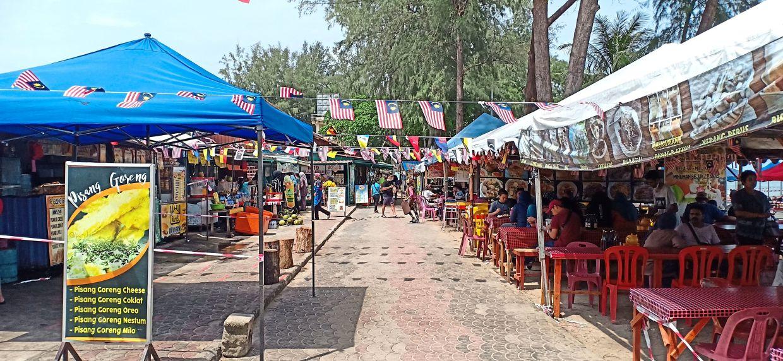 Eateries at Telok Kemang were brimming with diners last weekend.