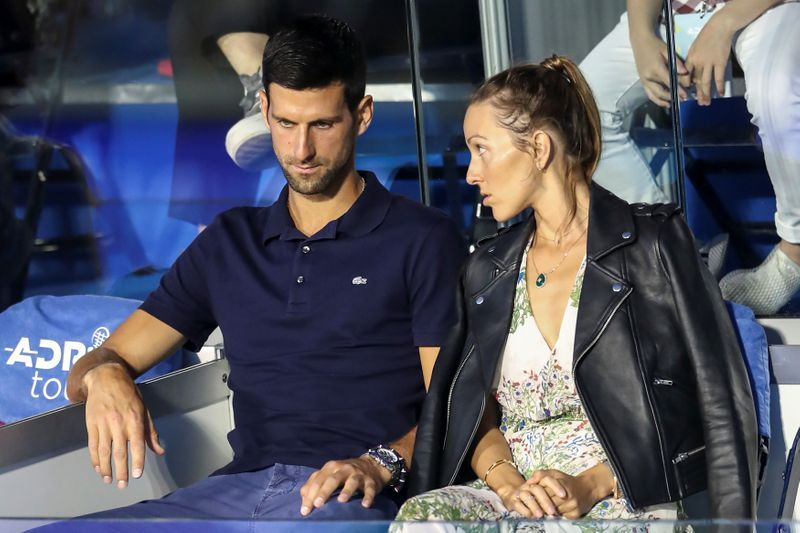 Tennis Djokovic Wife Jelena Test Negative For Covid 19 The Star