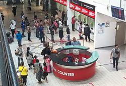 More activity at terminal