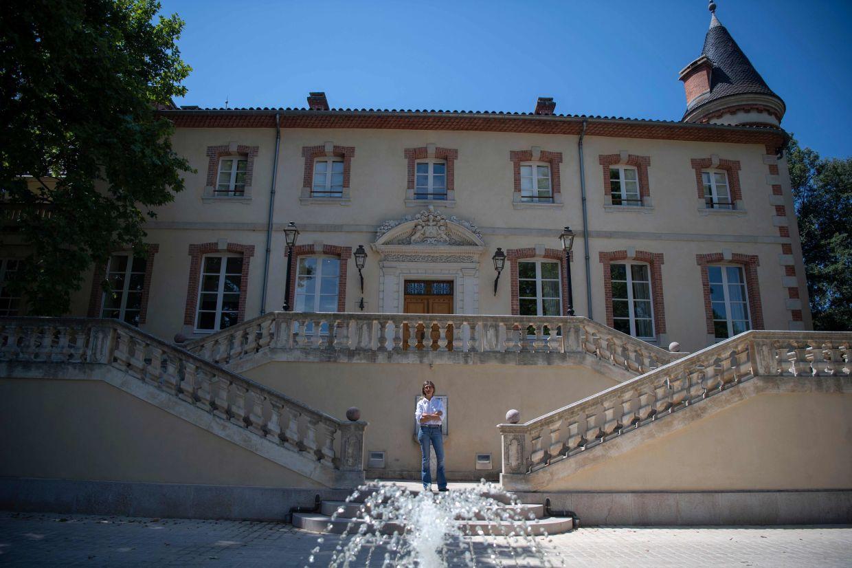 Caroline Pozzo di Borgo poses in front of the Forbin in Marseille. Photo: AFP