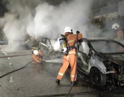Three cars razed in late-night fire in KL