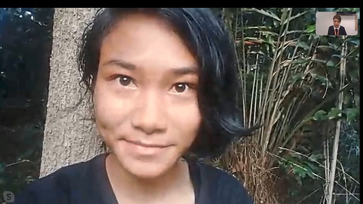 Veveonah's video showing her struggle to get a better Internet connection for her exams won her support and fame. — YouTube screenshot