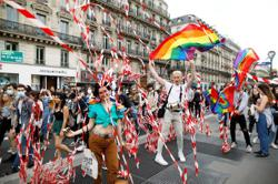 LGBT Pride activists protest in Paris against racial injustice