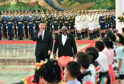 Xi vows closer ties with Ghana, Mongolia