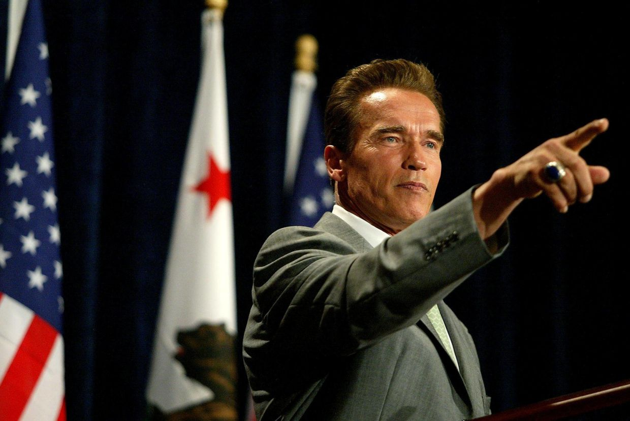 The action movie star went from 'Terminator' to 'Governator'. Photo: AFP