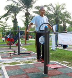 New outdoor gym equipment installed at Taman Rekreasi Wawasan