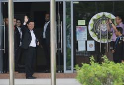 Penang CM arrives at state MACC HQ to record statement