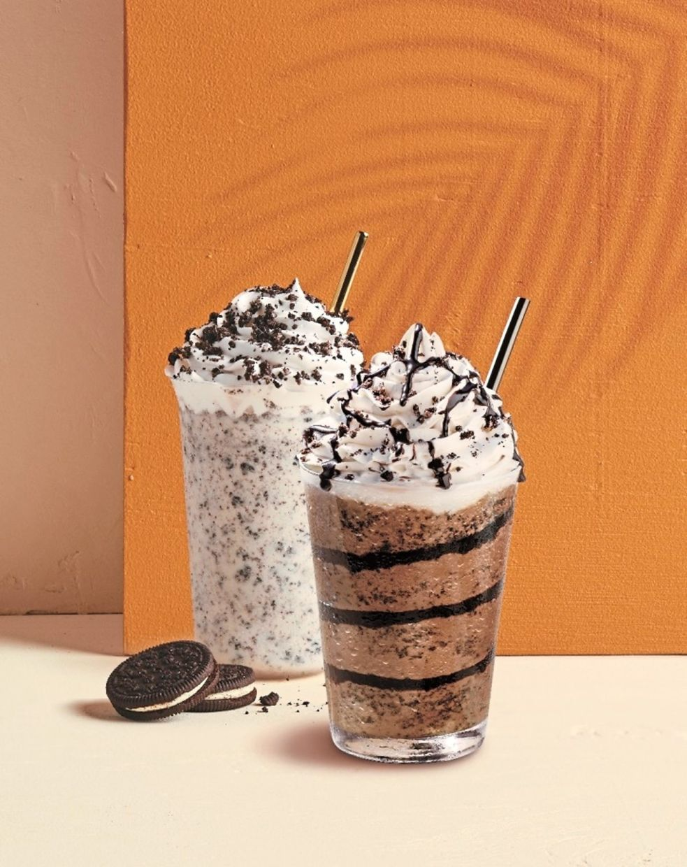 Newly updated selection features Cookies & Cream beverages.
