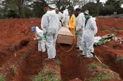 Brazil registers over 1,200 additional coronavirus deaths on Tuesday