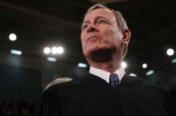 U.S. Chief Justice John Roberts hospitalized briefly in June after forehead injury