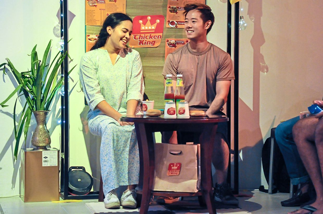 Expect social distancing on stage as Joshua Gui and Badrika Bahadur return as star-crossed lovers (Jason and Orked) in a restaging of 'Sepet The Musical' in KL next month. Photo: Liver and Lung Productions