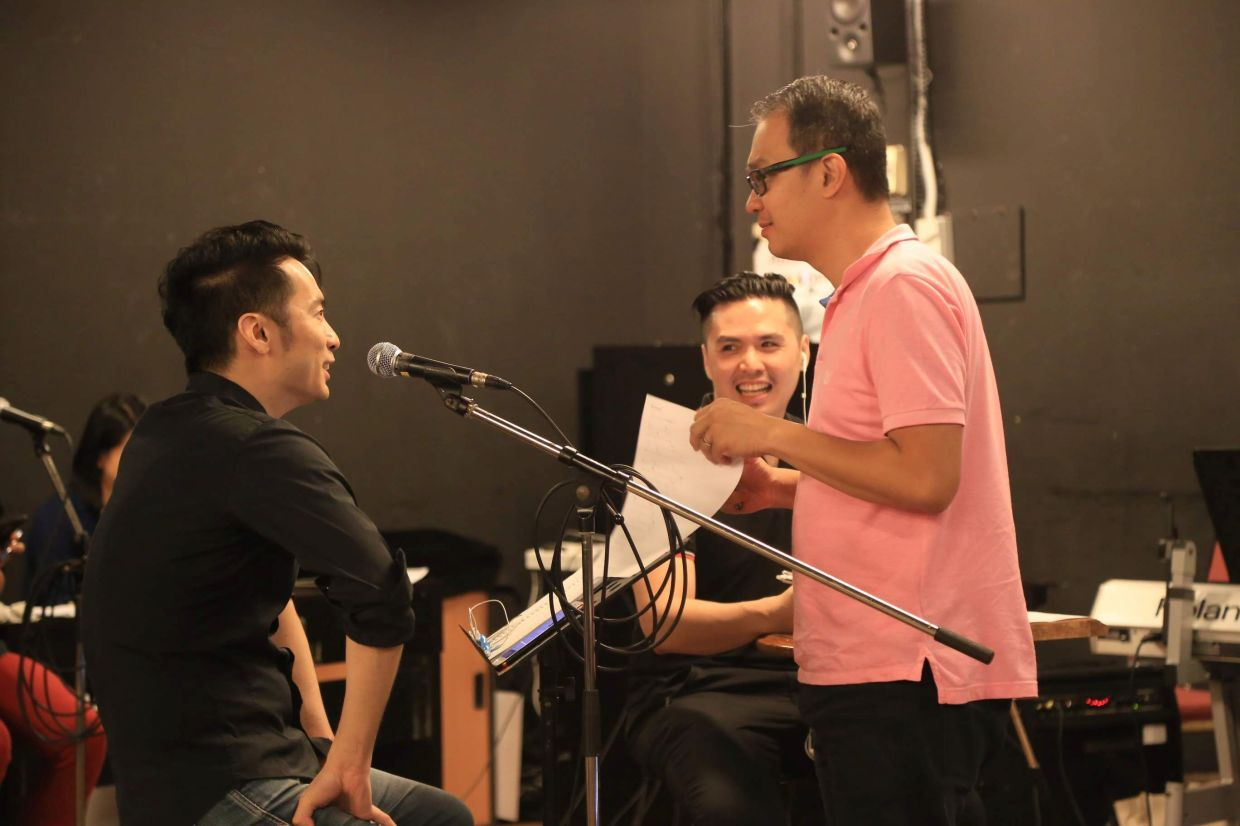 'The stage is home for so many of us, here is where we slowly move forward together,' says Chow (right), the music director for the 'Yesterday Once More' series. Photo: KLPac