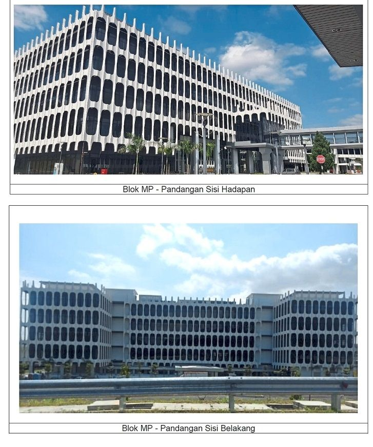 Facelift: The front (top) and back view of the new blocks of the Parliament that houses a library, a sauna and meeting rooms.