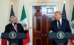Mexican president thanks Trump for not mentioning border wall at summit