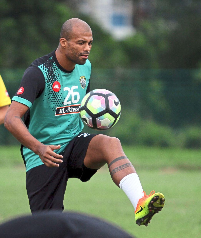 Perak FA defender Thiago Junior.