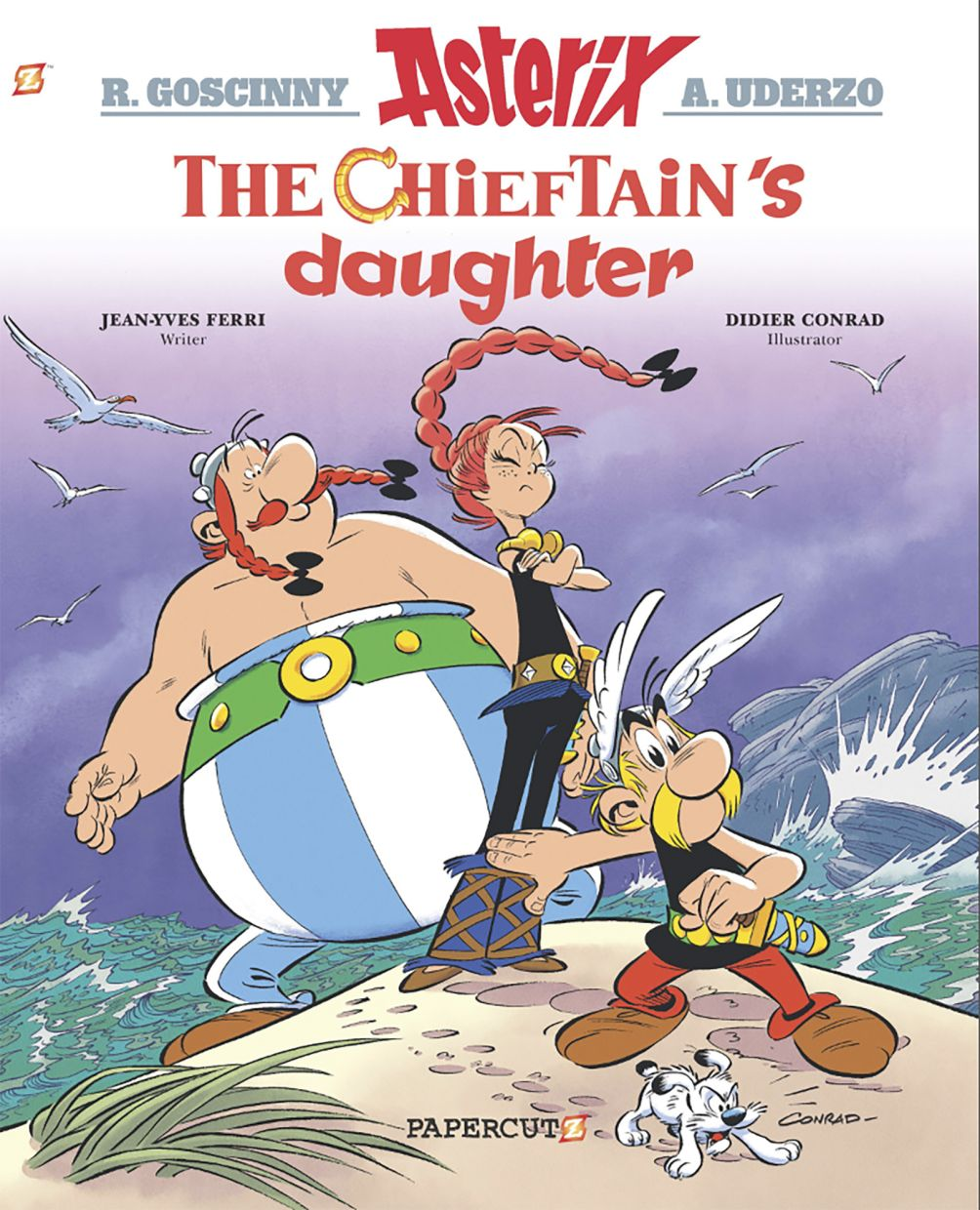 This image released by Papercutz shows the cover image for 'The Chieftain's Daughter,' the latest in the Asterix collection. Papercutz, which specialises in graphic novels for all ages, is republishing 'Asterix' collections this summer with a new English translations - one specifically geared to American readers. Photo: AP