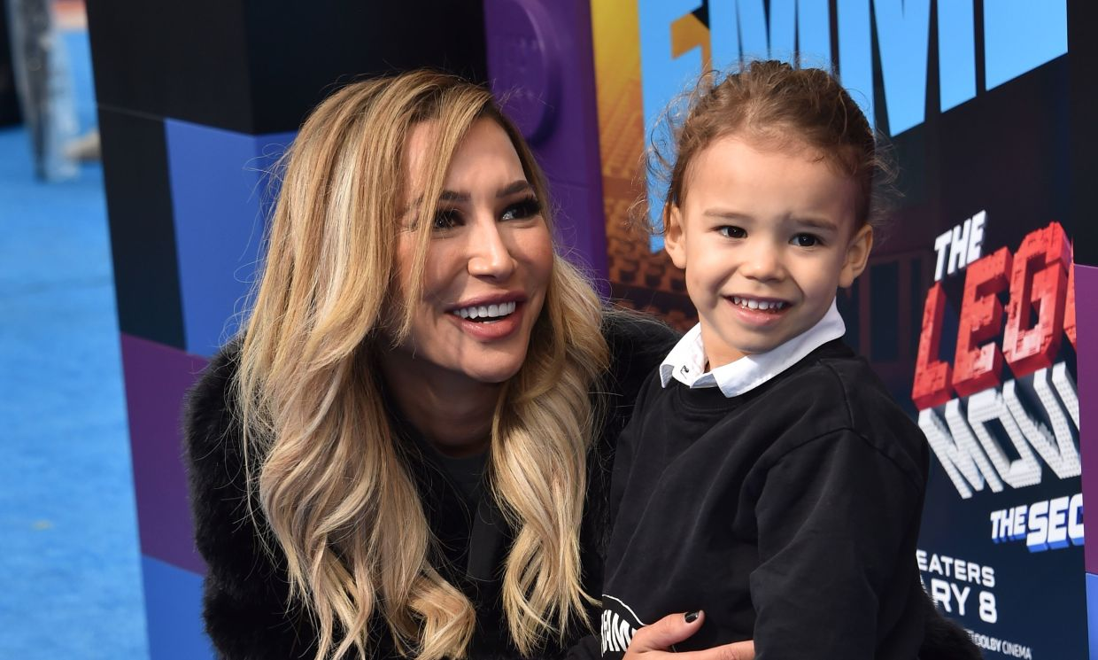 Naya Rivera (seen here with son, Josey) is missing and feared drowned at a California lake. Photo: AFP