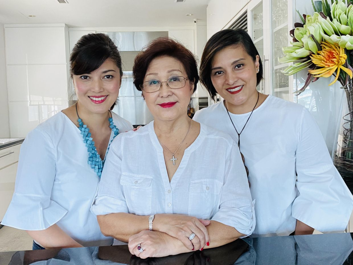 The video project allowed Anne to spend time with Serena (left) and Anita in the kitchen.