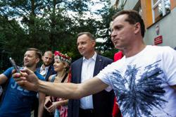 Poland's Duda slightly ahead in presidential vote - exit poll