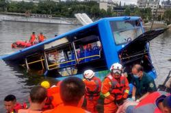 Upset driver to blame for deadly China bus plunge: State media