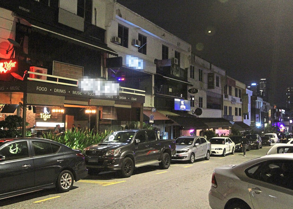 Nightlife in Bangsar has taken a dip as many businesses have reported a slowdown.