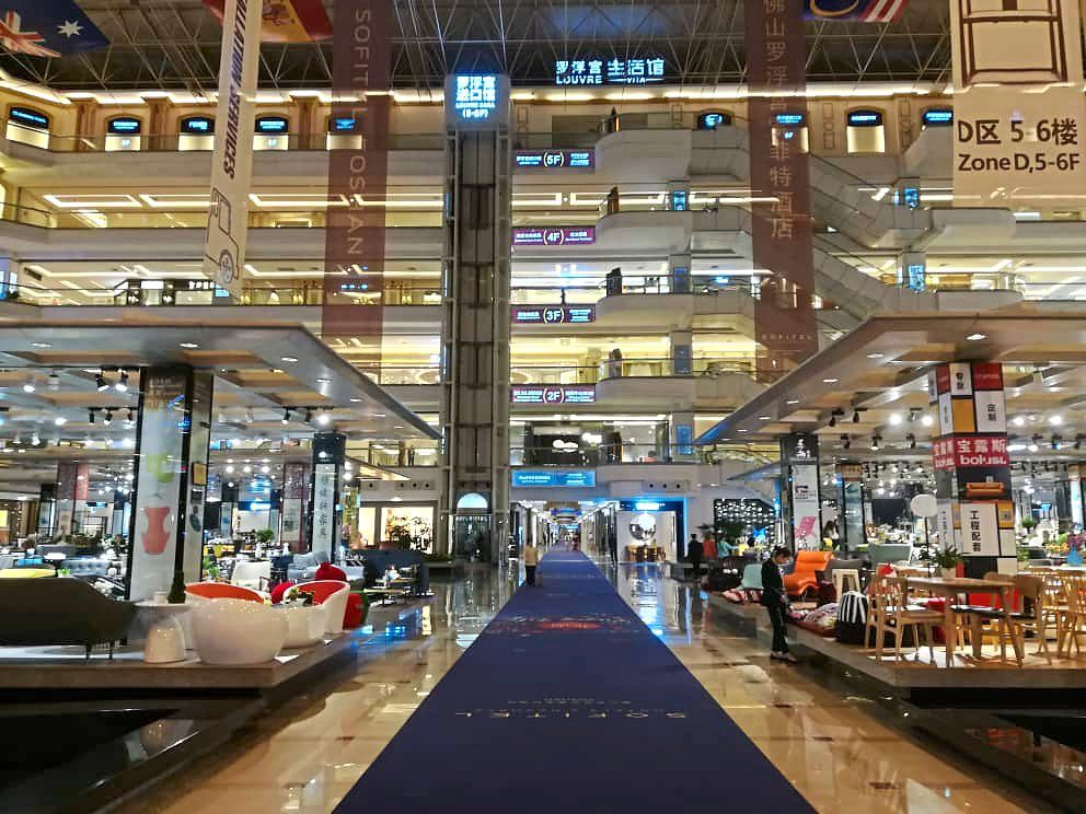 Louvre Furniture Mall is one of the most famous furniture marketplace in China.