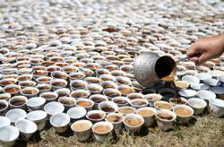 Travelling coffee-cup memorial art exhibit for Srebrenica's dead comes home