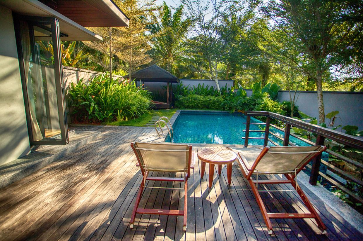 Enjoy the lush surrounds of the Vana Forest Pool Villas.