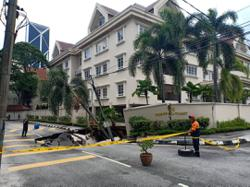Section of Jalan Taman U Thant closed after sinkhole causes road collapse