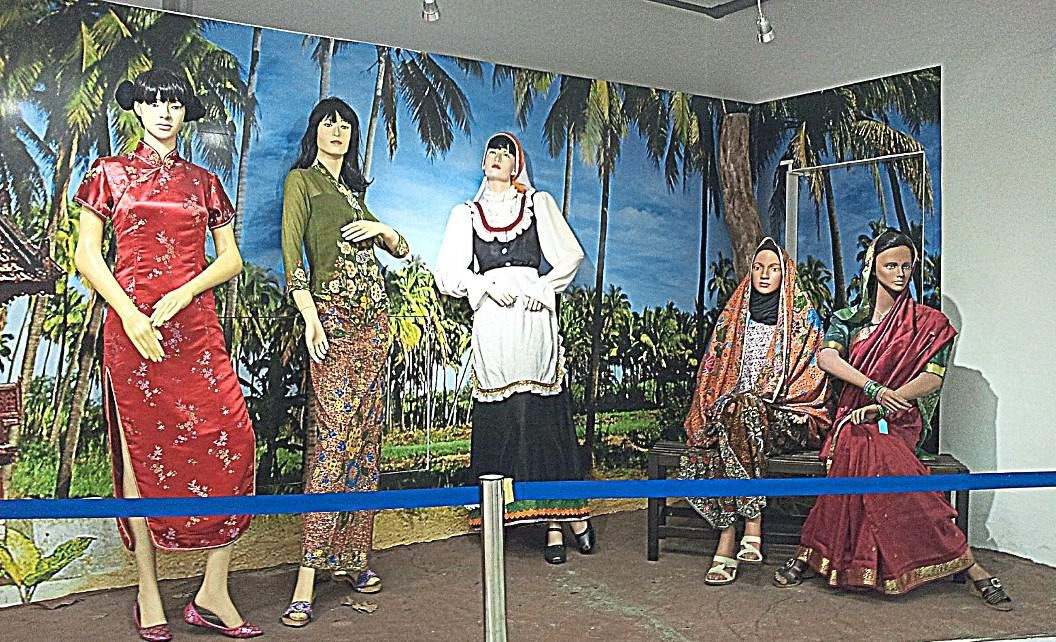 The Museum Of Enduring Beauty, in Melaka, has a collection of traditional Malaysian costumes. — Perzim