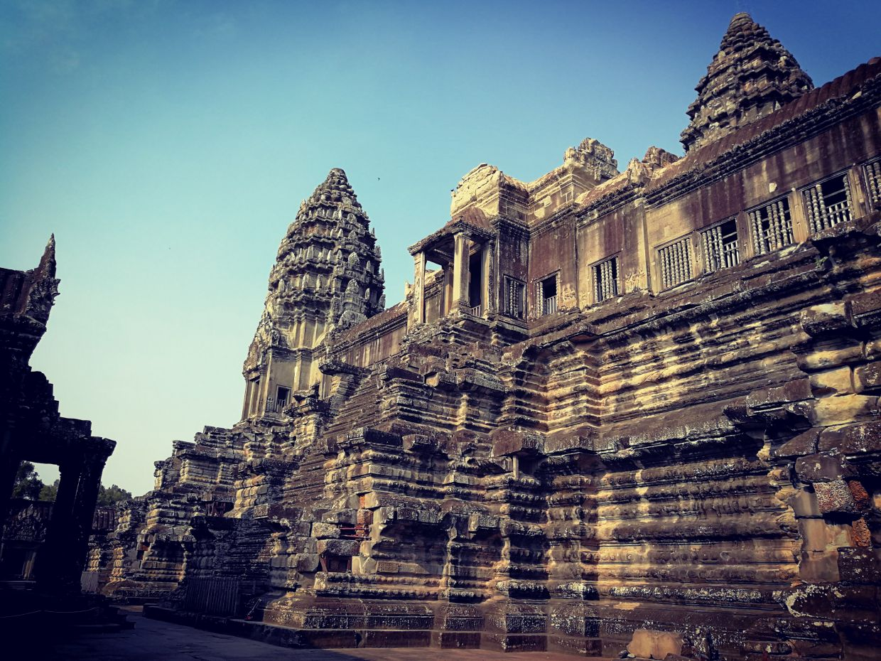 One of the temples in Angkor Wat.