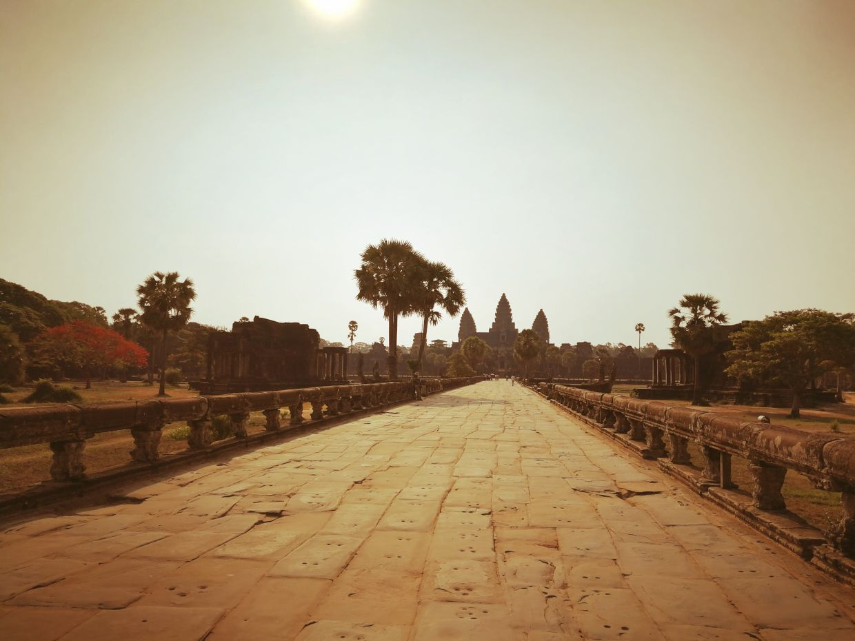 One of the world's most famous wonders, the early 12th-century Angkor Wat and surrounding temples, has been left largely empty for months.