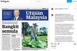 King applauds relaunch of Utusan Malaysia, Kosmo