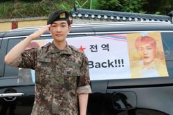 K-pop group SHINee's leader Onew returns from military service