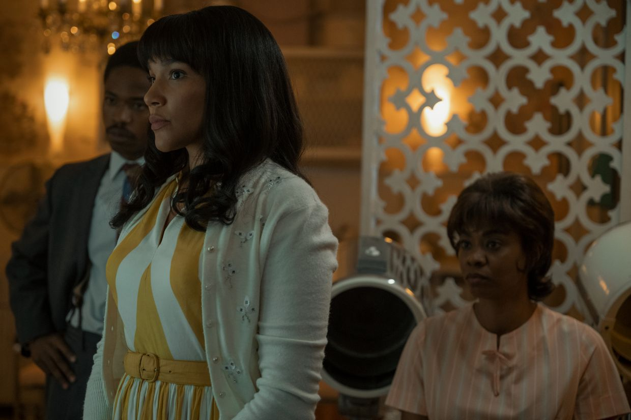 Allison (Emmy Raver-Lampman) gets a new look, having arrived in the 1960s.