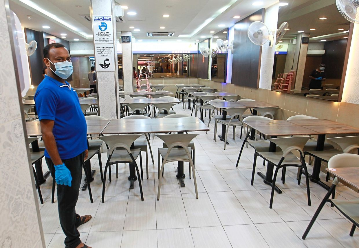 A restaurant in Brickfields has had no customers since Monday.
