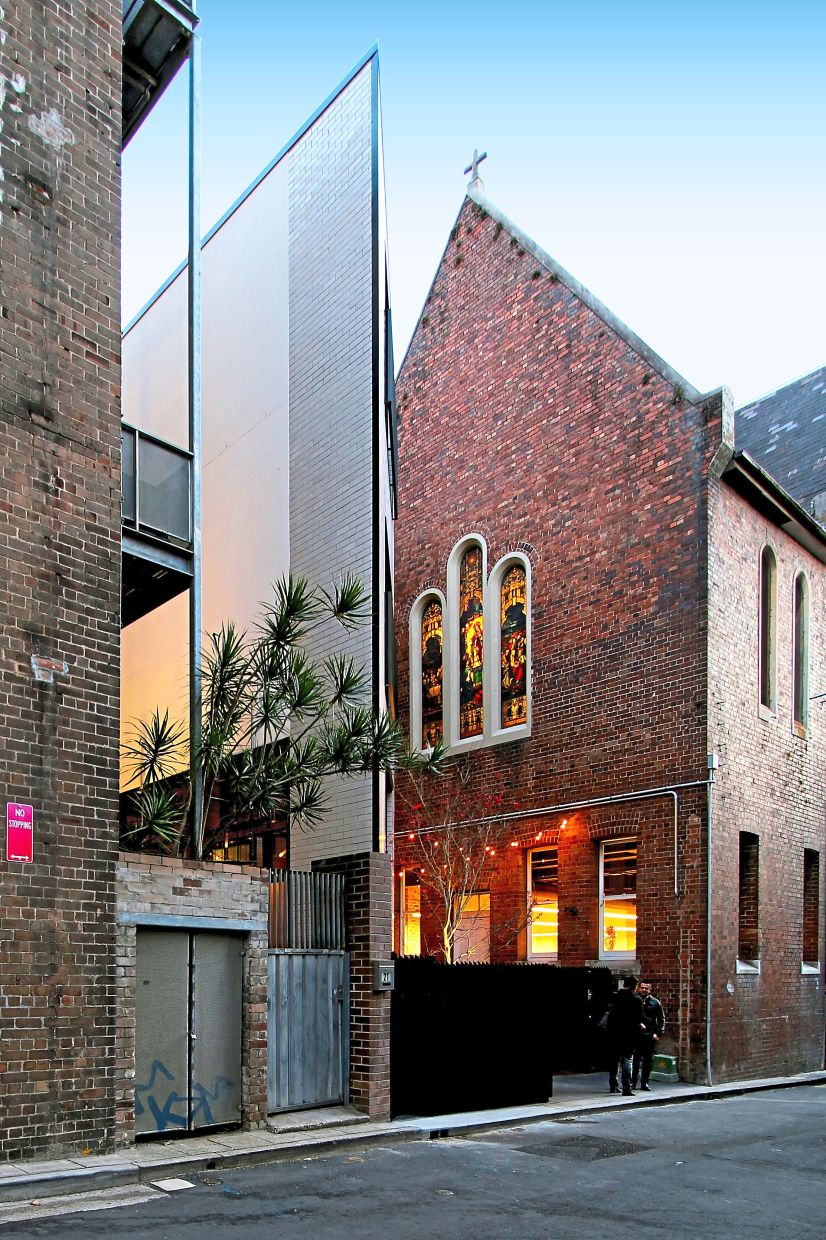 The award-winning Little Albion Guest House in Surry Hills is flanked by two other heritage-listed buildings.