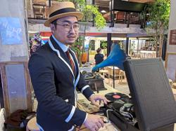 M'sian music fan deejays with wind-up gramophone, playing century-old recordings