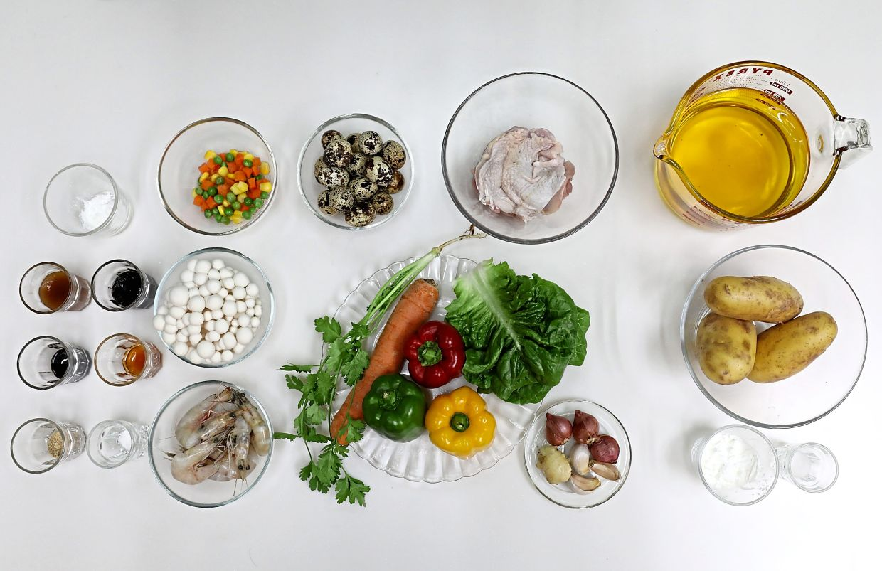 Ingredients for this dish include quail eggs and a variety of colourful vegetables. — Photos: SAMUEL ONG/The Star