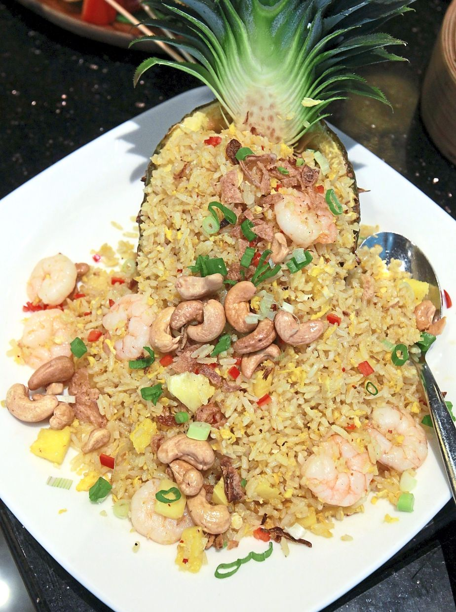 Pineapple Fried Rice featured in 'Tiki-licious Sunday Brunch'.