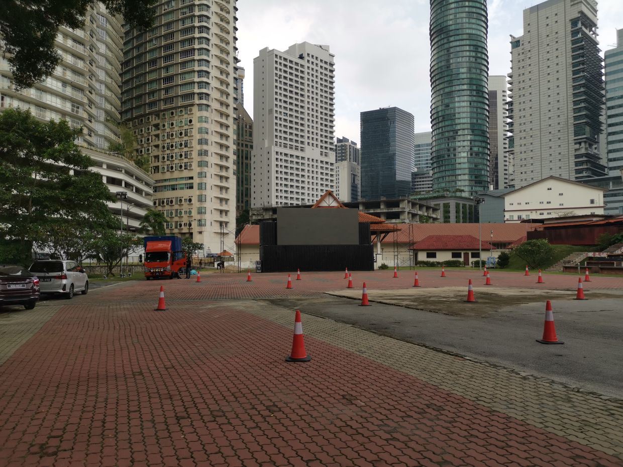 A shot of Kuala Lumpur's first drive-in cinema at Matic, Jalan Ampang ahead of its launch on July 30. Photo: Handout