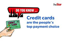 Do you know...Credit cards are the people's top payment choice