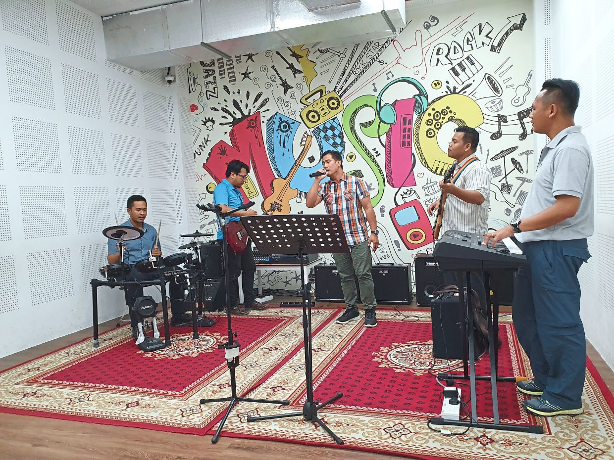 Have a jamming session with friends at the Sabah State Library, Tanjung Aru. — MELODY L. GOH/The Star