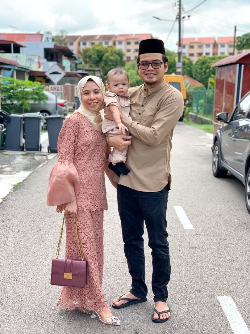 This year's Hari Raya Haji will be even more special because Mohd Elipi and Nur Hasanah will be celebrating it with their newborn son. Photo: Mohd Elipi Sien