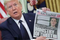 Stocks, US$ slide on economic data, Trump election tweet