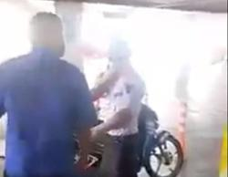 Video shared on FB shows local man assaulting foreign security guard