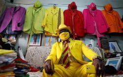 Snazzy face mask fashion reaches Nairobi neighbourhood