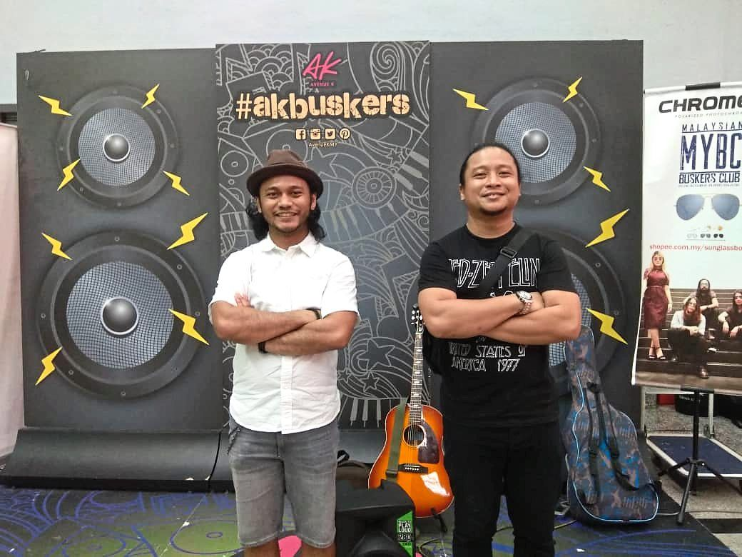 Buskers Syamel Baqtiar, 30 and Islah, 35 from the band Cakial are happy to be back performing again during the recovery MCO period.