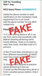Fake news: Viral WhatsApp message on new SOPs for recovery MCO not true