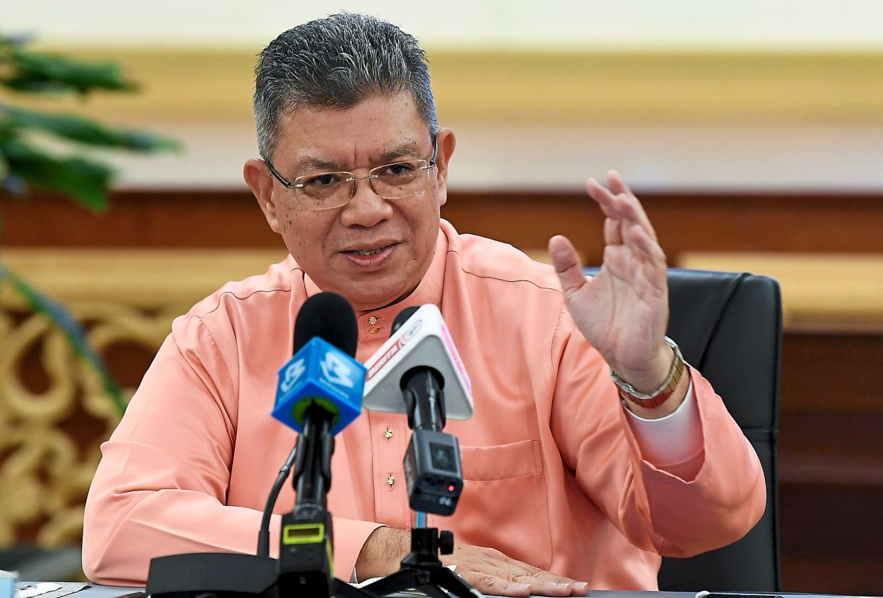 Saifuddin jointly chaired the first meeting of the Digital Economy Task Force (DETF) with his counterpart from Mosti, Khairy Jamaluddin. — Bernama